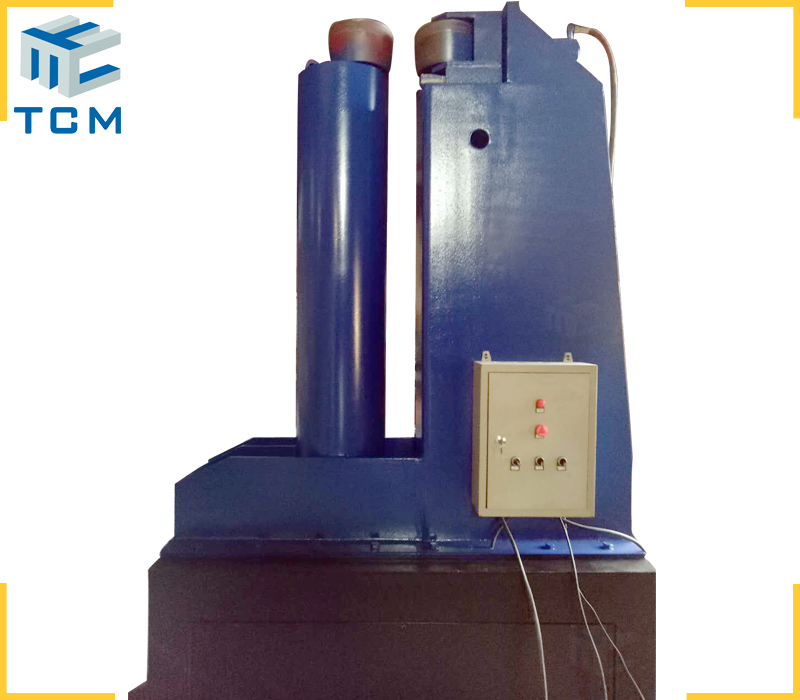 Tank circular welded joints planishing machine