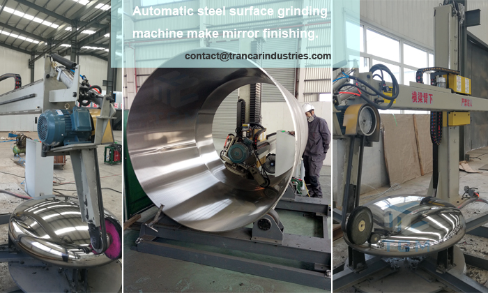 How to make stainless steel(Sus304,Sus316,Sus316L etc)tank shells dish head's surface with mirror finishing?