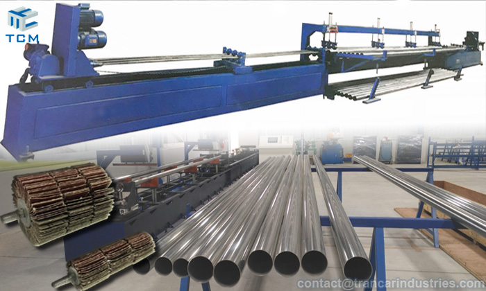 How to grind steel pipe inner surface with automatic polishing machine?