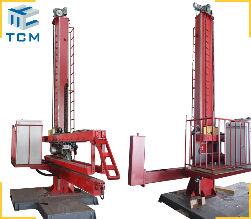 Automatic weld seam finishing machine for ss tank longitudinal welding seam removal and welding line polishing