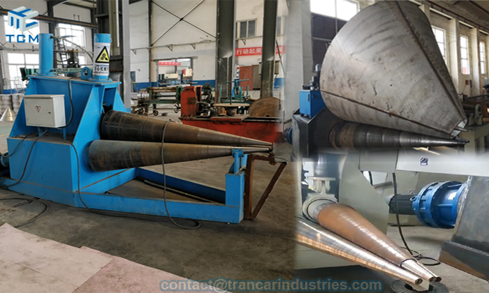 How to make steel cone with cone rolling machine auto cone roller?