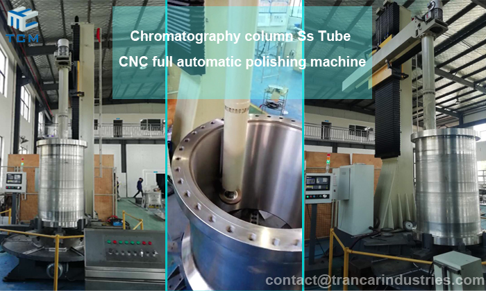 Chromatography column steel tube cnc automatic polishing machine