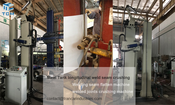 Steel Tank body longitudinal welded joint curshing machine