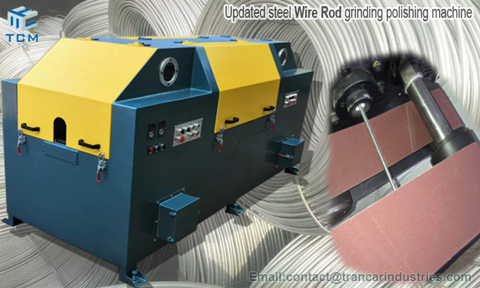 New arrive updated wire rod grinding polishing machine from China