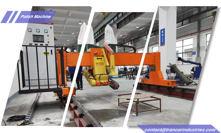 Trancar Industries steel plate sheet automatic polishing machine