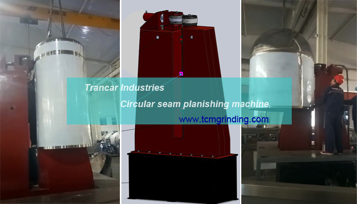 Tank welding seam circular welded seam planishing machine