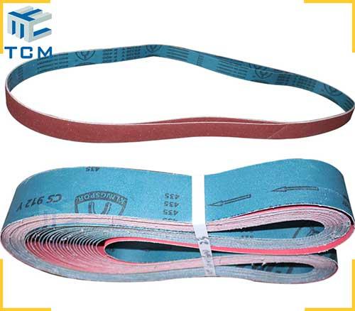 Abrasive sanding belts