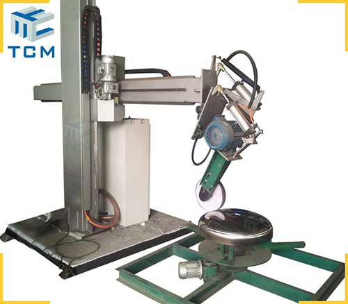 Automatic dished head polishing machine