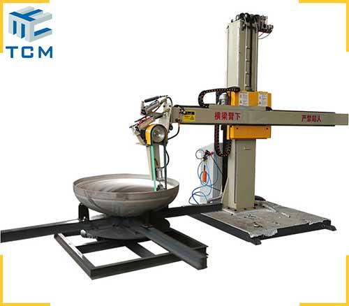 Automatic dished head polishing machine