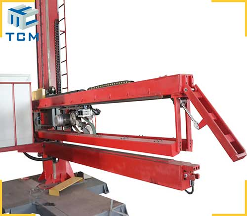 Automatic weld seam finishing machine for ss tank longitudinal welding seam removal and welding line polishing