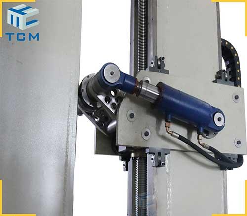 Steel tank longitudinal welding seam crushing machine from China