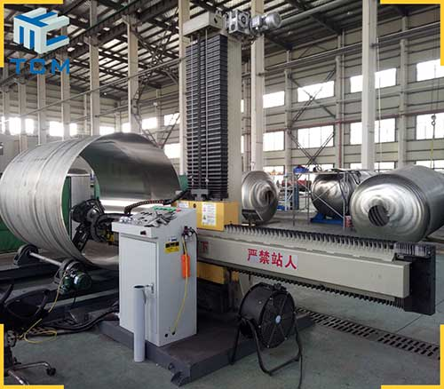 Stainless steel tank shell buffing automatic polishing machine