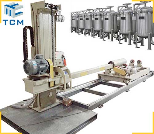 Steel Metal Filter Housing Surface Automatic Polishing Machine