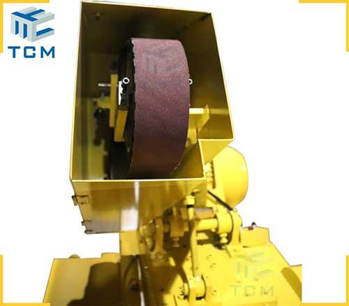 Steel tank circular welded seam auto polishing machine