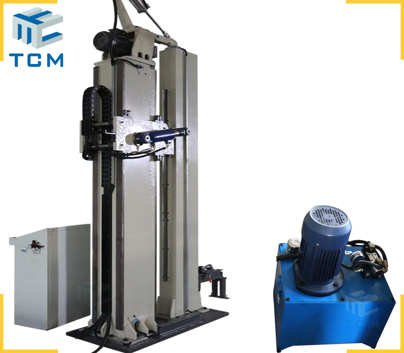 Steel tank longitudinal welding seams planishng machine