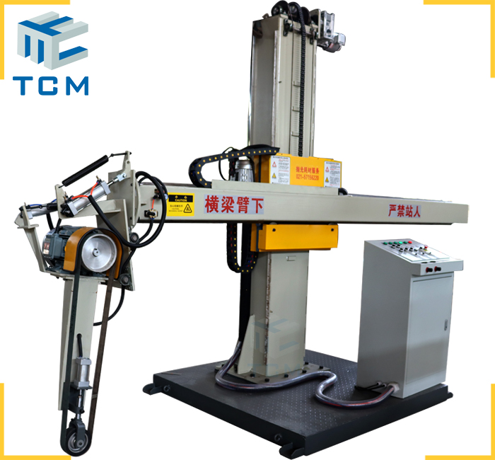 Steel tank cover polishing machine from Trancar Industries