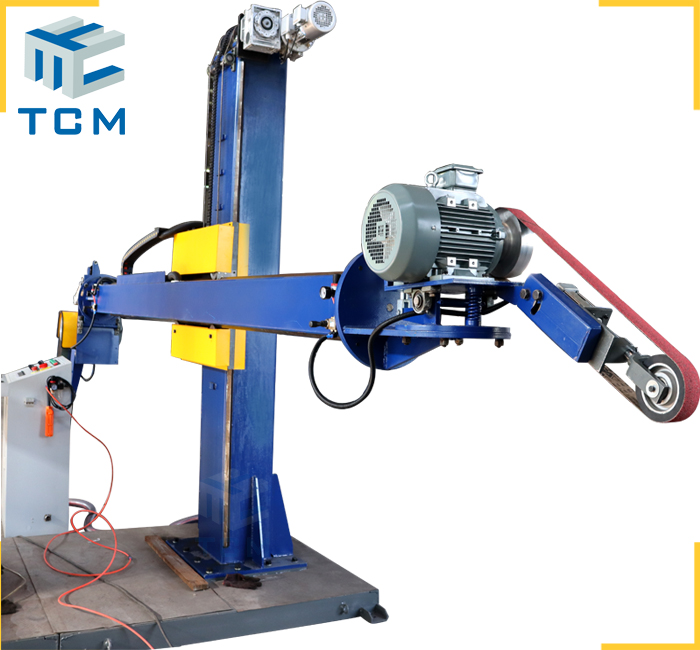2 in 1 dual use automatic polishing machine for steel cylinder and tank cap surface grinding buffing