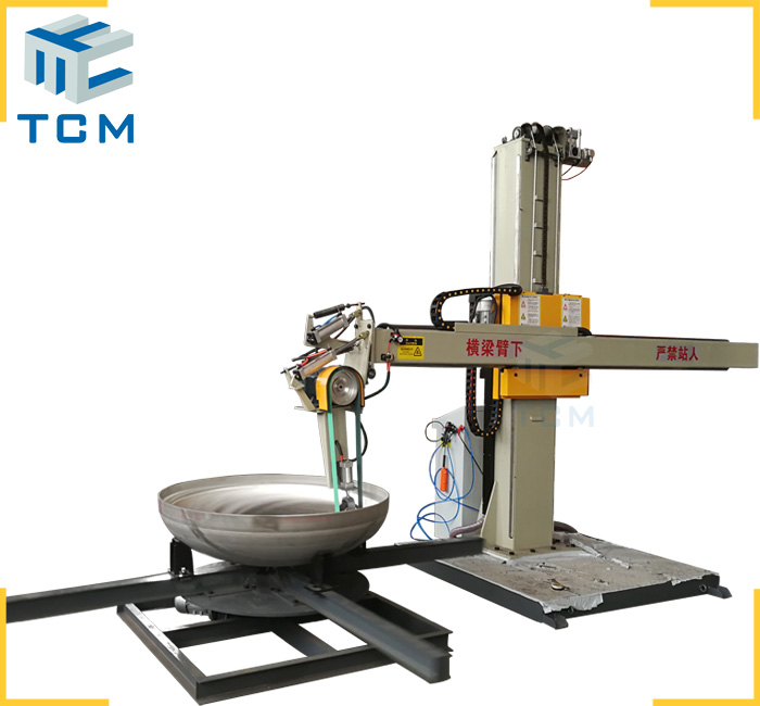 Stainless Steel tank bottom polishing machine automatic steel surface grinding machine