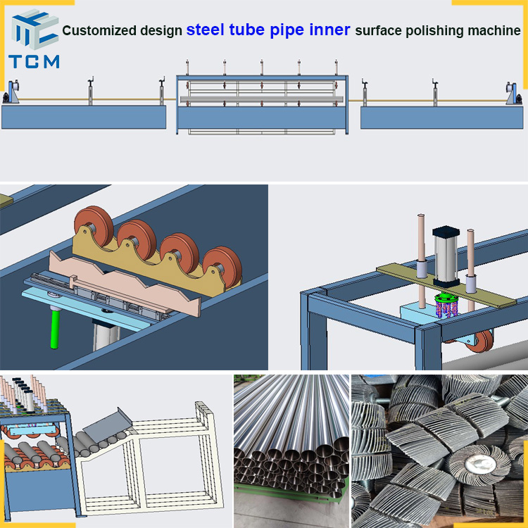 Steel sanitary tube inner polishing machine pipe polishing machine