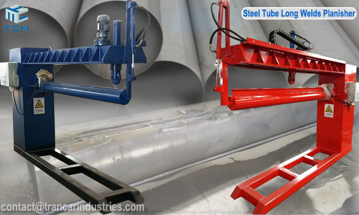 How to remove steel pipe tube longitudinal welding seam?