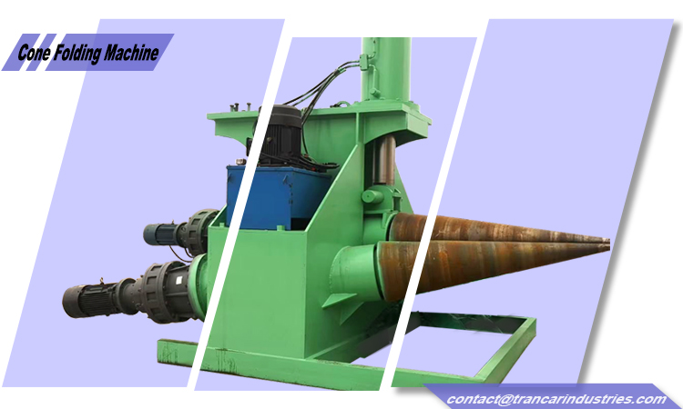 How to make conical cone via Trancar Industries 3 rollers hydraulic cone folding machine