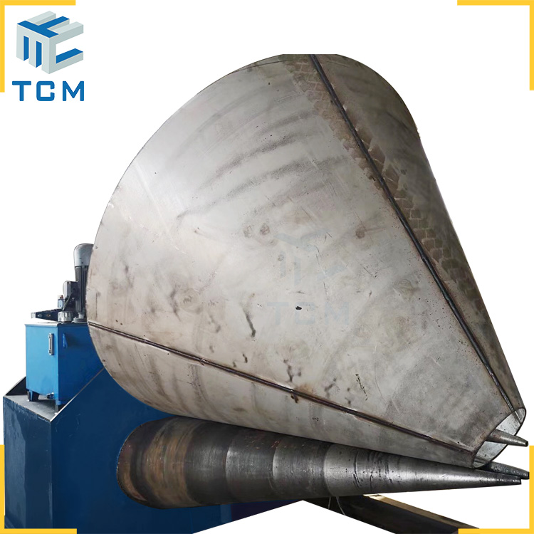 Steel cone hydraulic bending machine from Trancar Industries