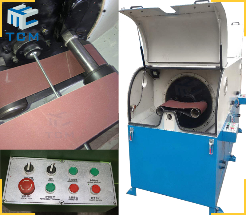 High speed abrasive belts polishing machine steel welding wire grinding machine