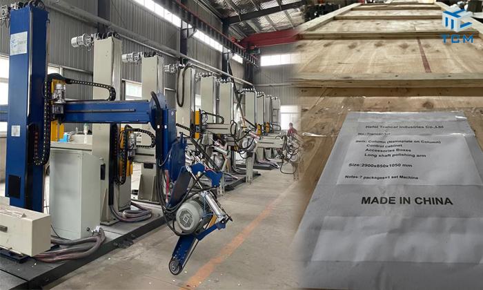 Trancar steel tank automatic polishing machine delivery